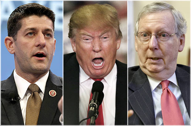 GOP's dangerous Trump gamble: Mitch McConnell and Paul Ryan insist that Trump, as president, can be controlled