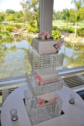 Tiered Crystal Cake Stand ~ lots of Crystals!   Wedding