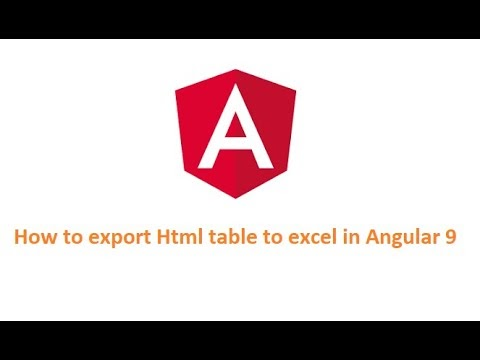 How to export html table to excel file in Angular 9
