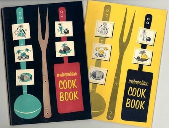 Two Super Clean Fifties Recipes Booklets, Metropolitan Life Ins., Lots of Cute Clip Art