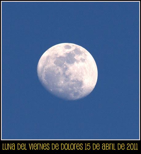Luna de abril, luna del viernes de dolores