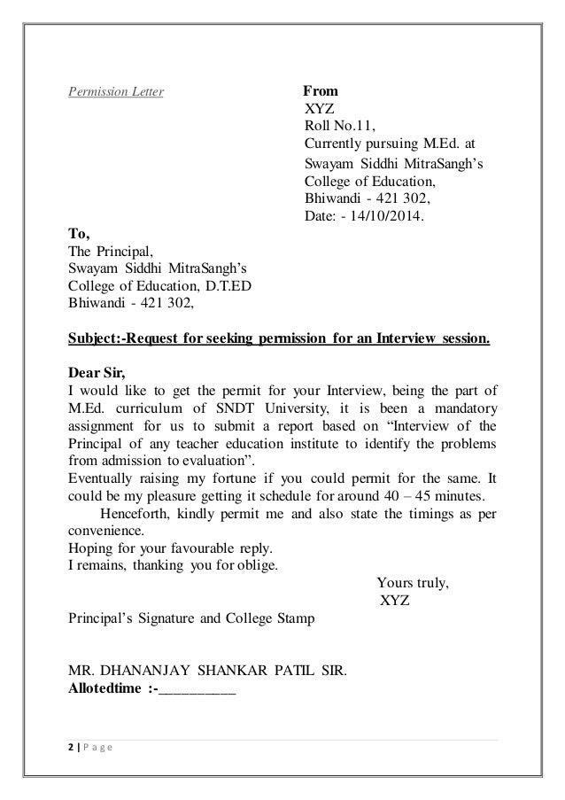 85 Sample Letter Asking Permission From Parents Sample Parents