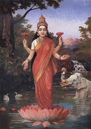 Lakshmi by Raja Ravi Varma.