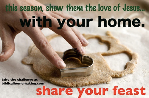 a challenge to open your heart and home this year: share your feast