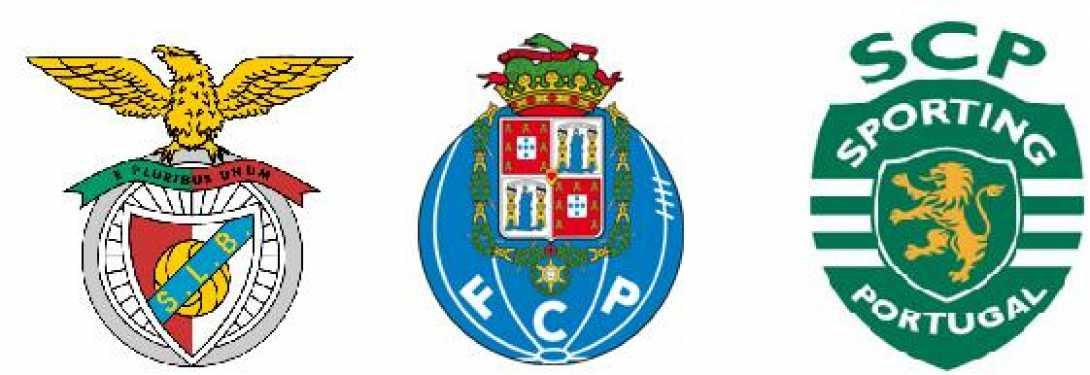 Resultado de imagem para Símbolos dos 3 grandes do futebol português