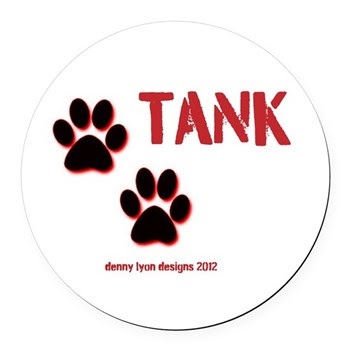 Tank Name Round Car Magnet