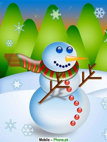 Cute christmas snowman Wallpaper for Mobile