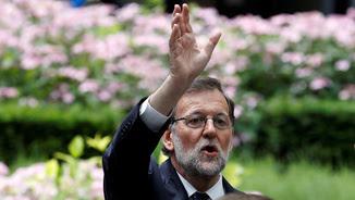 Rajoy saluda a la sortida del primer Consell Europeu després del Brexit