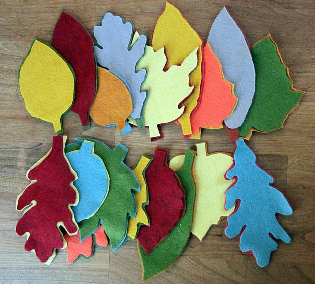 Layered Felt Leaves
