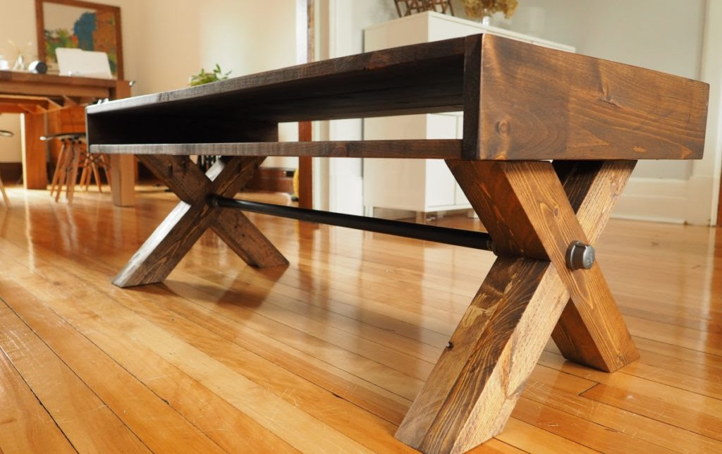 X-Leg Coffee Table | DIY Montreal