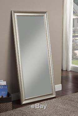 Full Length Mirror Leaning Floor Large Silver Big Standing Bedroom