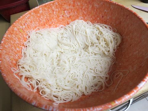 drained noodles