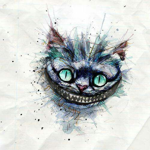 Alice In Wonderland Cat Drawing At Getdrawingscom Free For