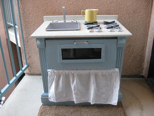 Simple Blue Kitchen