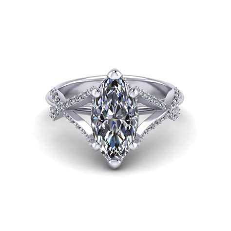 Crossover Marquise Engagement Ring   Jewelry Designs