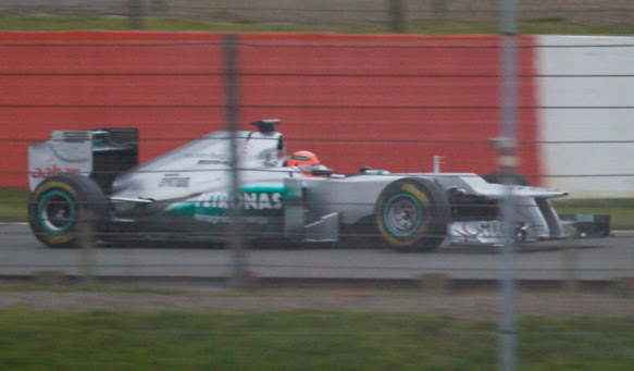 Mercedes W03 spy shot