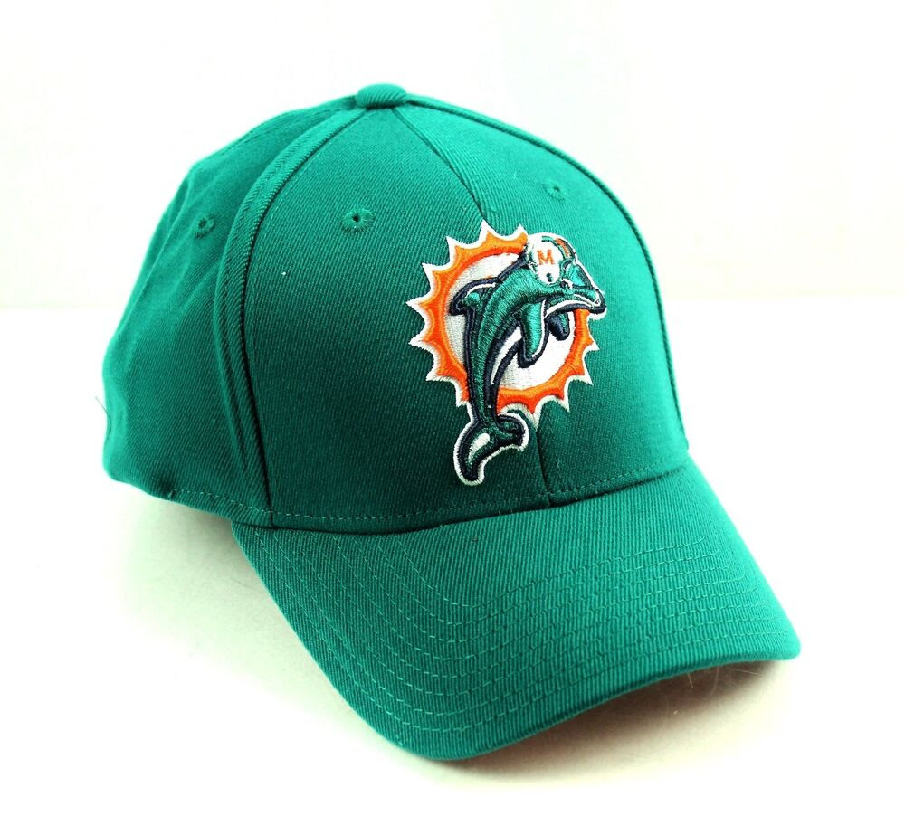MIAMI DOLPHINS Green Basic Logo Flex Hat Cap NFL Team Apparel  eBay