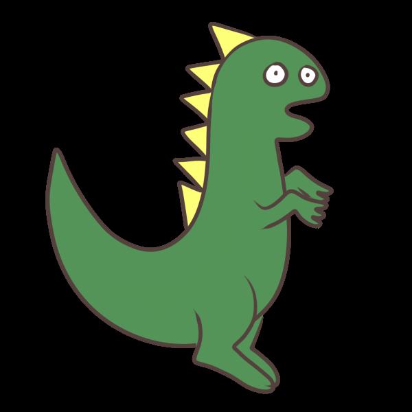 緑の恐竜のイラスト かわいいフリー素材が無料のイラストレイン