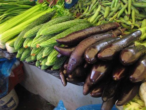 Berenxenas, pepinos, apio e soia