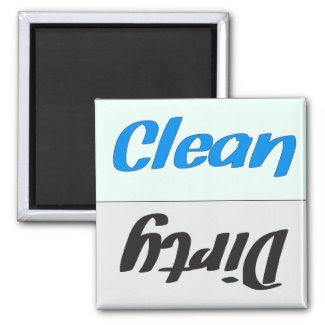 Dirty Clean Dishwasher Magnet magnet