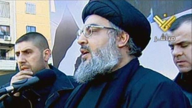 Hassan Nasrallah, líder do Hezbollah, discursa nesta terça-feira (6) em Beirute (Foto: AFP)