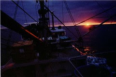 Sunrise in the Gulf of Alaska