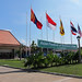 Siem Reap Airport with Flags
