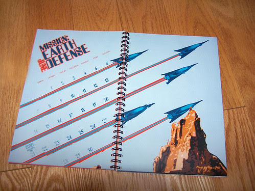 Retro Sci-Fi Calendar Cover