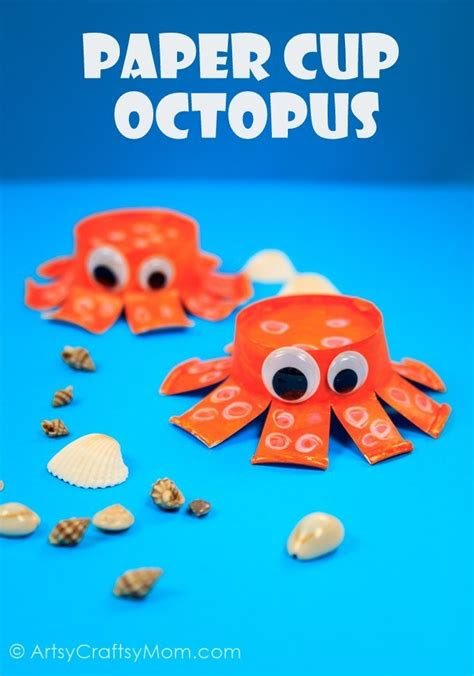 diy paper cup octopus craft craft ideas  paper cups