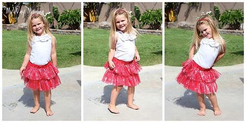 MWM Red 2 tier Halloween Skirt Oct 2012 1