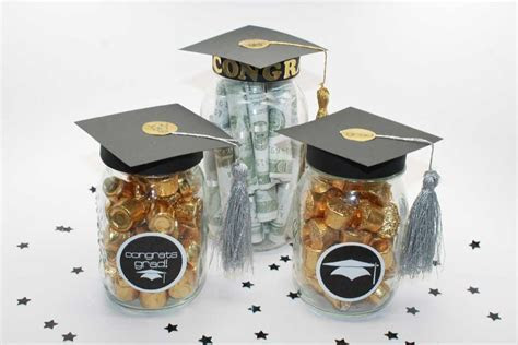DIY Graduation Mason Jar Party Gifts / Favors   Free Printable