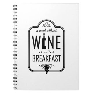A Meal Without Wine is Called Breakfast Spiral Notebooks