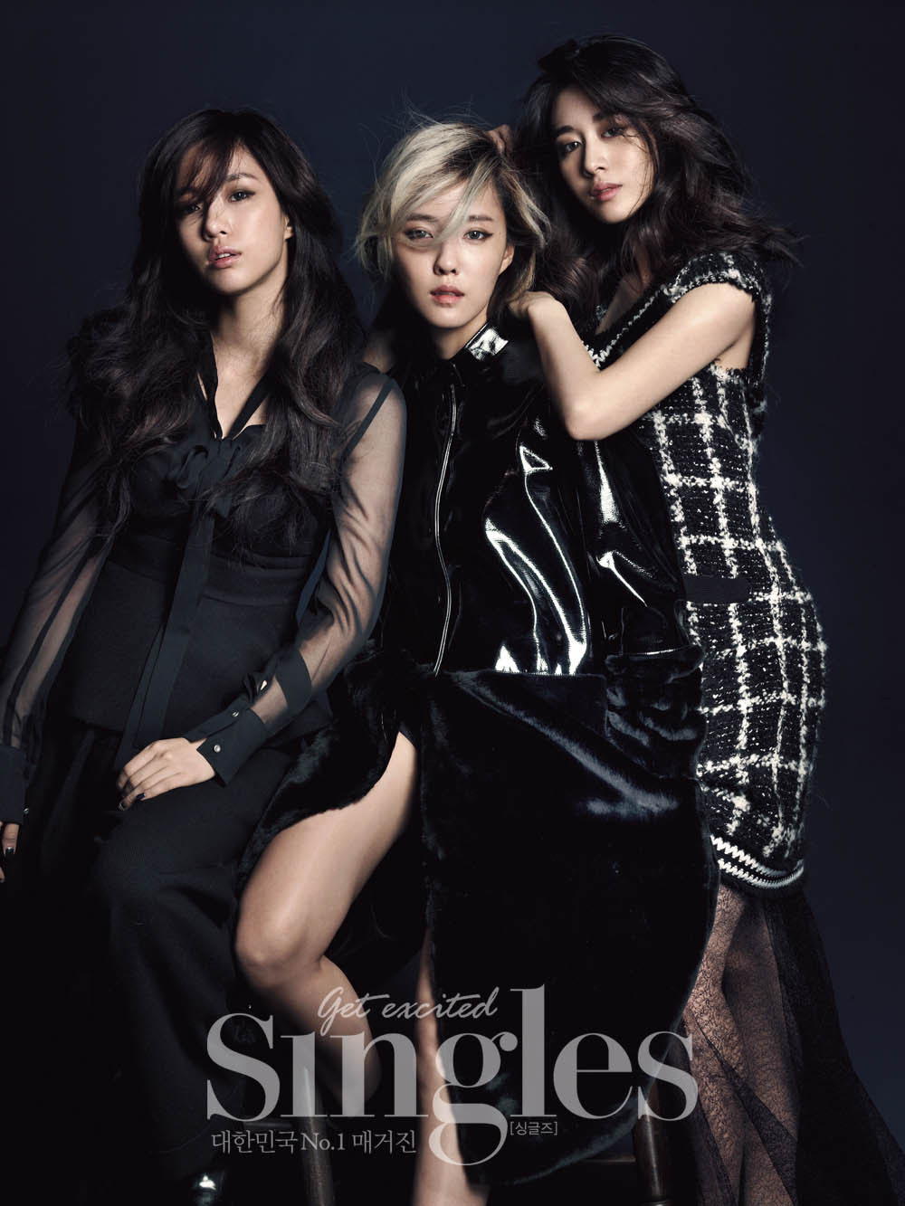 T-Ara Eun Jung, Hyo Min and Ji Yeon - Singles Magazine November Issue '14