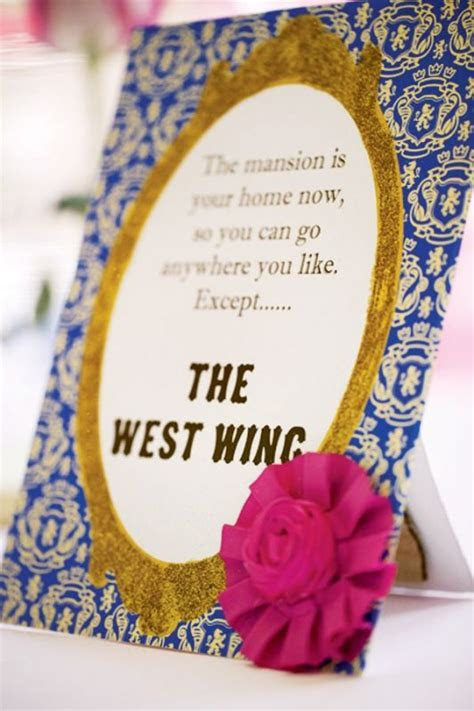 Beauty and the Beast wedding thank you card wording