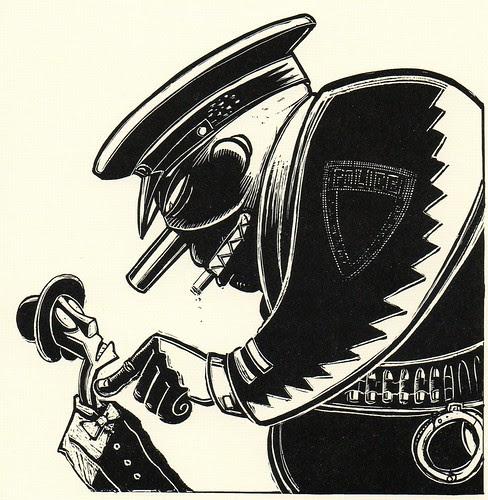 Graphic Novel illustration by Peter Kuper