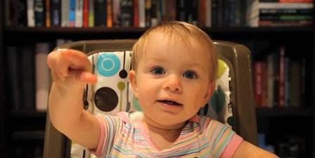 Maddie, no vídeo, quando ainda era bebê