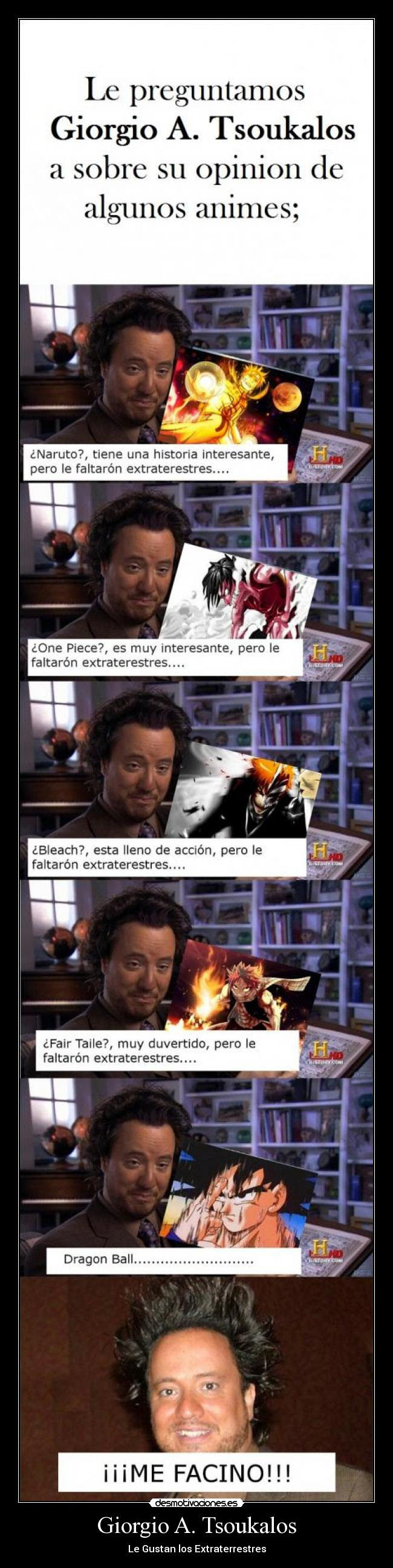 giorgio tsoukalos anime dragon ball goku naruto one piece bleach ichigo fair taile natsu ovni extr