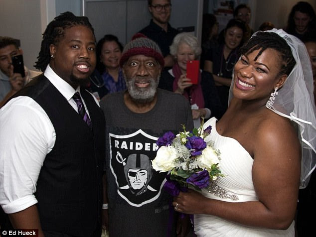 Remember the man who walked his daughter down the aisle in a hospital weeks back? He