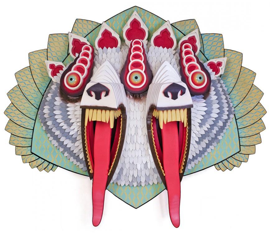 masque aj fossik 09 868x750 Les monstres en relief dAJ Fosik  art
