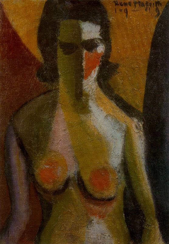 Nude, 1919 Rene Magritte