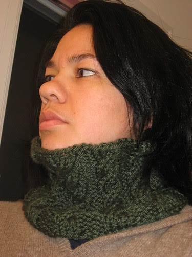 Cabled Neckwarmer