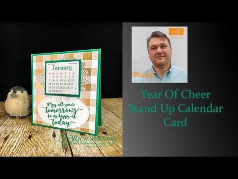 Year of Cheer Stand Up Calendar Card Video Tutorial