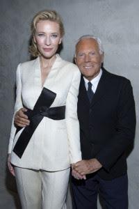 5 Cate Blanchett and Giorgio Armani CREDIT Giorgio Armani