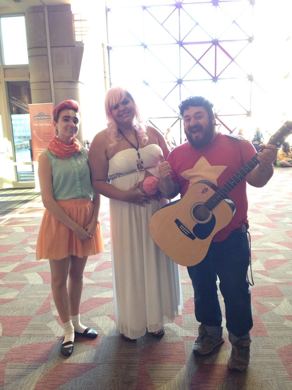 brappzannigan as pearl alchanbenedetto as rose quartz and me as steven. i posed for a ton of pics and would love to see them. if you took any at shutocon please tag me imascientistofmusic. also i use...
