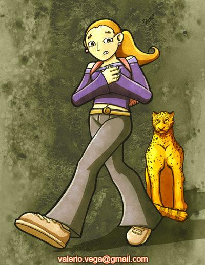 niña y jaguar