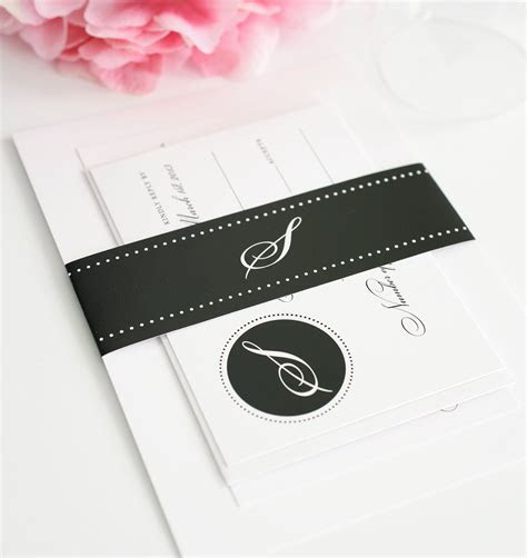 Classic Wedding Invitations in Black and White with