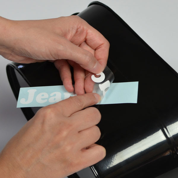 How to install and apply vinyl lettering and vinyl decals - Step 3