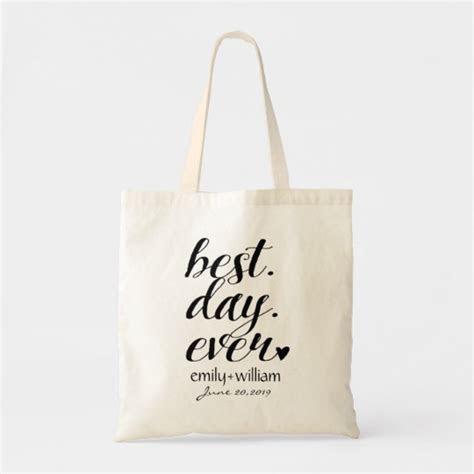 """Best Day Ever"" Wedding Welcome bag,Wedding Favor Tote Bag"