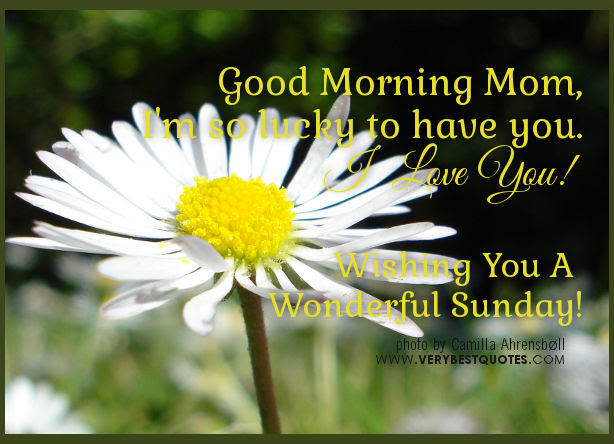 Good Morning Mom Wishing You A Wonderful Sunday Pictures Photos