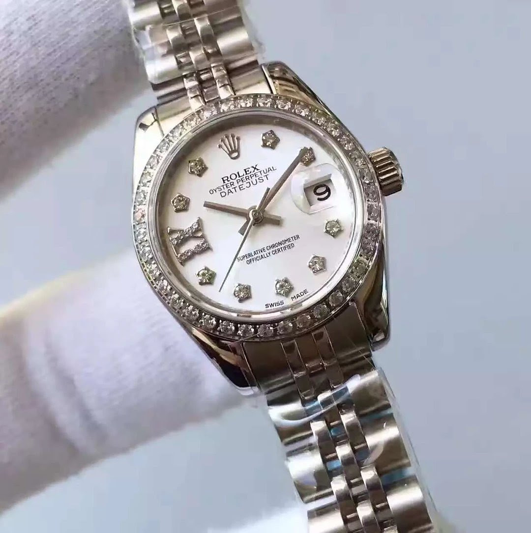 33mm Rolex Datejust MOP Stainless Steel Watch